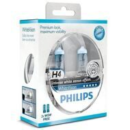 Автолампа Н4 12/60/55 Philips White Vision +60% 12342WHVSM